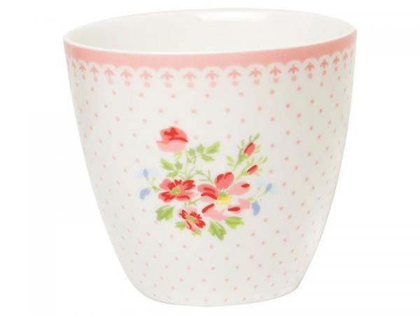 Greengate Ltd. Edition Latte Cup Sinja White