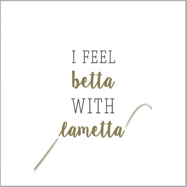 "Räder Papierserviette ""I feel better with Lametta"""