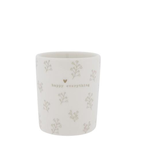 Bastion Collections Becher / Mug Flower Hearts, Titane, SS21