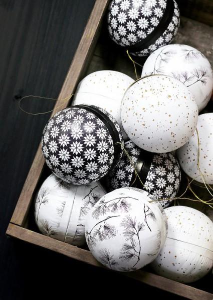 Tafelgut, Winter Balls / Weihnachtskugeln