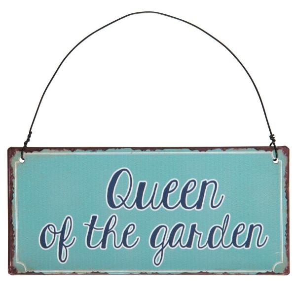 """Ib Laursen Metallschild """"Queen of the garden"""""""