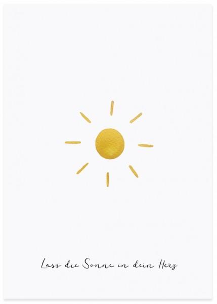 Eulenschnitt Postkarte Sonne