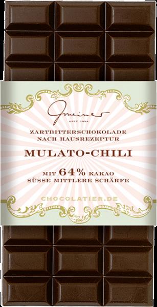 Zartbitter Schokolade, Mulato Chili, 100 g