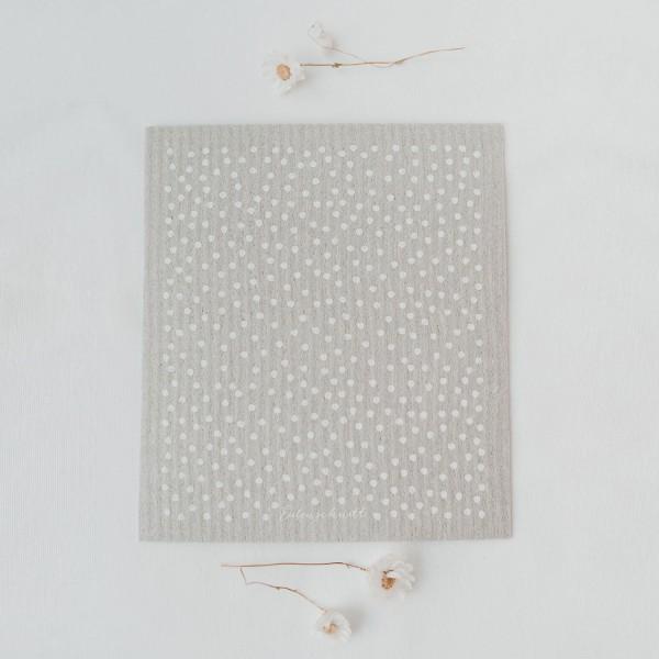 Eulenschnitt Schwammtuch Punkte Grau, 3er Set