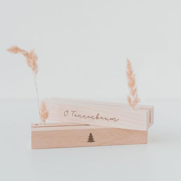 Eulenschnitt Karten- und Blumenständer O Tannenbaum, im 2er Set, 12 cm