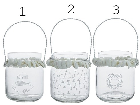 Bastion Collections Teelichthalter mit Muscheln, klein
