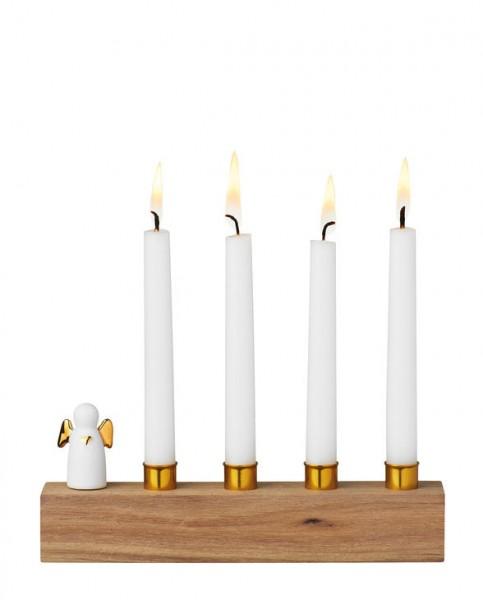 Räder Winterzeit Kerzenhalter Adventsengel Gold, Advent Advent
