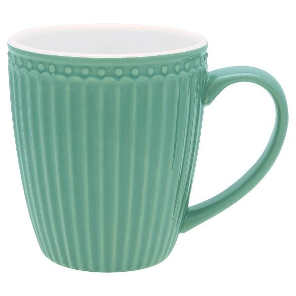 GreenGate Henkeltasse / Mug, Alice Dusty Green