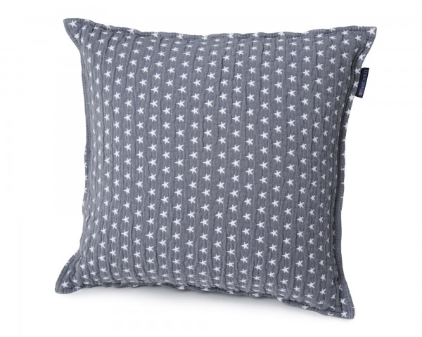 Lexington Star Sham / Kissen, medium grey