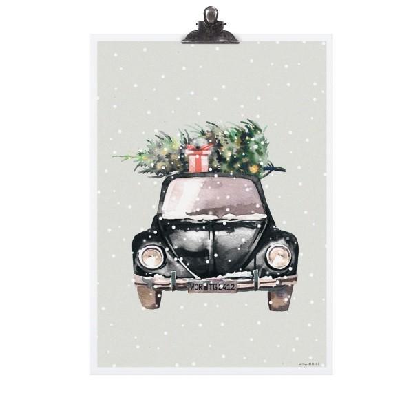 """Tafelgut Poster """"XMAS Car"""""""
