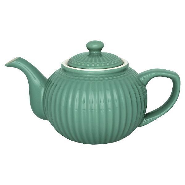 GreenGate Teekanne Alice Dusty Green