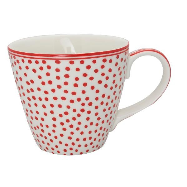 Greengate Henkeltasse / Mug Dazzling Dot White, Ltd Edition