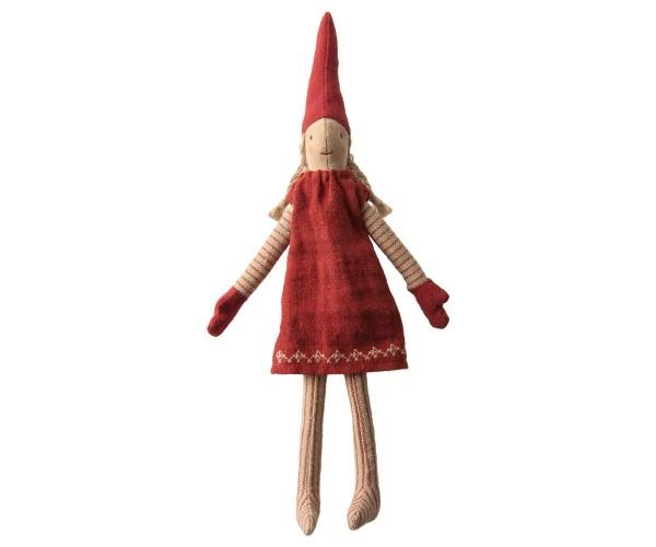 """Maileg Climbing Pixy 2019, Mädchen """"rotes Kleid"""""""